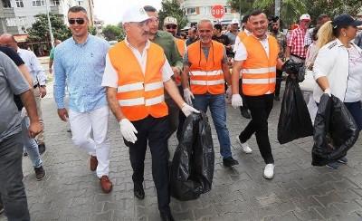 Atakum'da temizlik dayanışması
