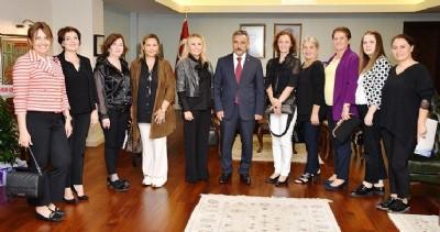 Kadın girişimcilerden Kaymak'a ziyaret