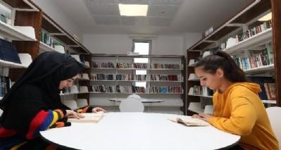 Belediye binasında kütüphane