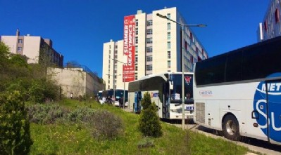 Öğrenciler Samsun'dan ayrıldı