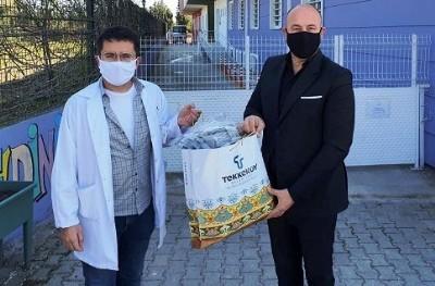 Tekkeköy'de her eve maske