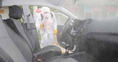 Sürücü kursları dezenfekte edildi