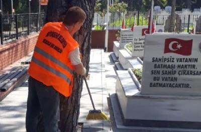 Mezarlıklara kapsamlı bakım