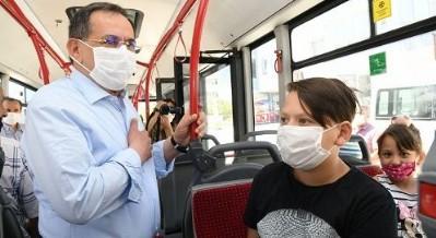Başkan belediye otobüsünde!