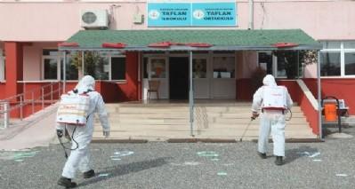 Atakum'da okullar dezenfekte edildi