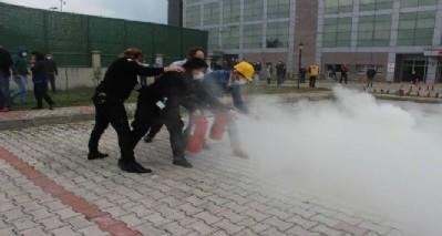 Hastanede yangın eğitimi