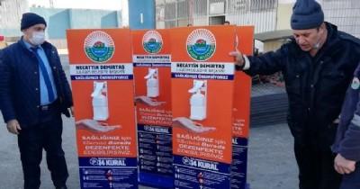 Sokaklara dezenfektan desteği