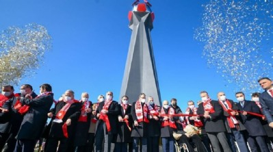Samsunspor anıtı açıldı