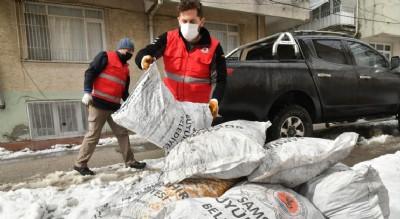 Büyükşehir'den kömür yardımı