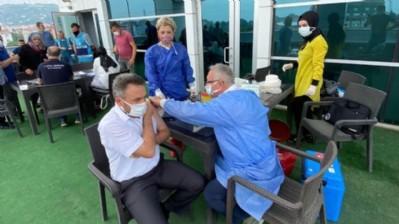 Tekkeköy'de aşı seferberliği