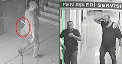 Belediye binasında gazeteciye çirkin saldırı