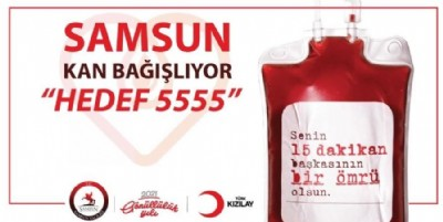 Hedef 5555 ünite kan bağışı