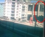 Caminin çökme anı kamerada