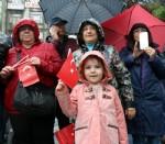 19 Mayıs kutlamasına yağmur engeli