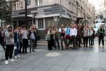 Cadde ortasında mehter gösterisi