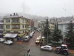 Samsun'a mevsimin ilk karı düştü