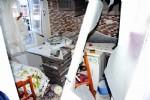 Mutfak tüpü bomba gibi patladı