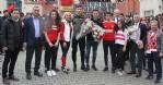 Futbolcular öğrencilerle buluştu