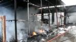 Tekkeköy'de korkutan yangın