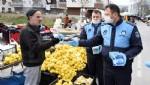 Tekkeköy zabıtası maske dağıttı