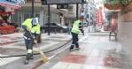 Canik'te sokaklar sabunla yıkanıyor